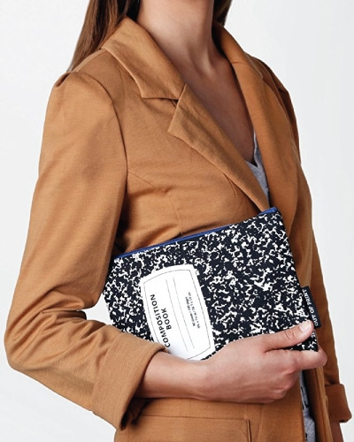 Composition Notebook Pouch. Trendy teacher outfits. Back to school gifts for teachers.