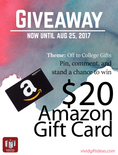 Off to College Amazon Gift Card Giveaway | Vivid