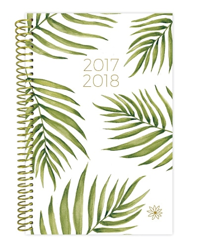 Leaf Pattern Academic Planner. College school supplies. Off to college gift ideas for girls.