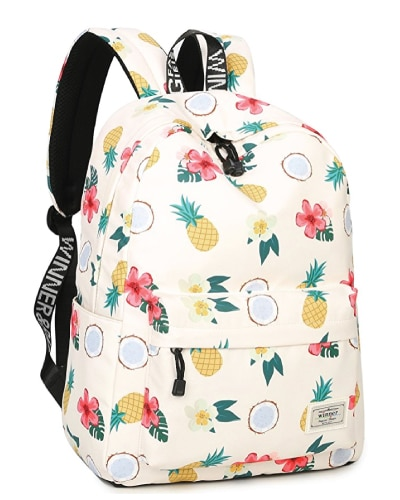 Tropical Fun Pineapple School Bag. Back to school supplies for teen girls.