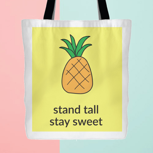 Fun Pineapple Tote Bag