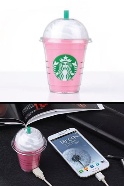 Starbucks Frappuccino Power Bank. Back to school essentials for teens. Back to school supplies highschool.