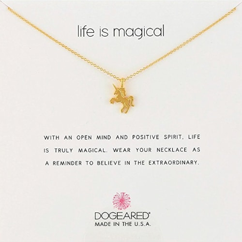 Dogeared Life Is Magical Unicorn Necklace. Unicorn gifts. Gifts for unicorn lovers.
