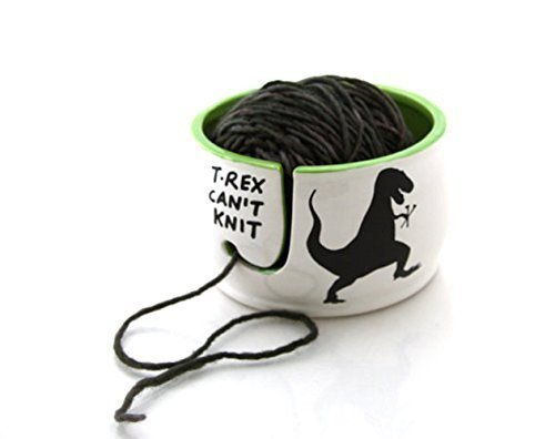 T-Rex Yarn Knitting Bowl. Funny gifts for grandma. Grandparents Day gift ideas