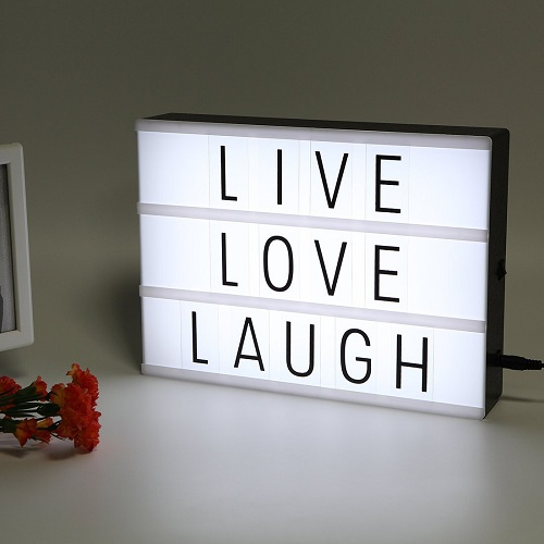 Personalize Cinematic Light Box. Teen bedroom decor. (Christmas gifts for teens)