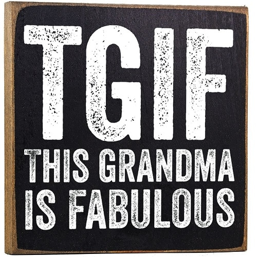 This Grandma is Fabulous Wooden Sign. Funny grandma quotes. Gifts for grandma. Grandparents Day gift ideas.