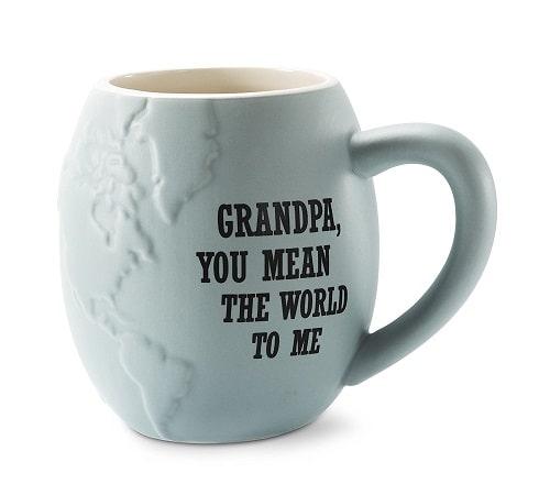 Grandpa Globe Ceramic Mug. Grandpa gifts.
