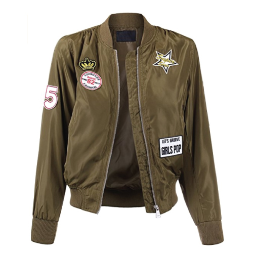 Military Inspired Bomber Jacket. Teens fashion. Christmas gifts for teens.