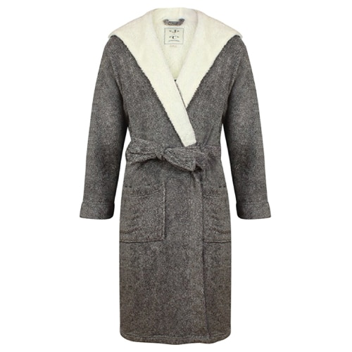 Men's Hooded Fleece Robe by John Christian
