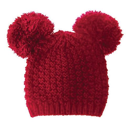 Pom Pom Ears Beanie Hat