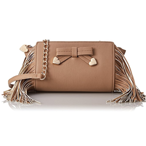 Betsey Johnson Fringe Cross Body Bag. Teen girl gifts. Christmas gifts for teens.