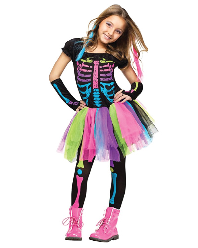 Neon Skeleton Halloween Costume
