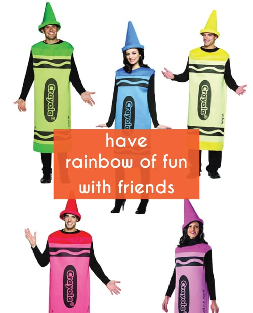 Crayola Crayons. Group costume ideas for Halloween.
