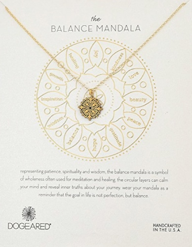 Dogeared The Balance Mandala Necklace. Grandparents Day gifts for grandma.