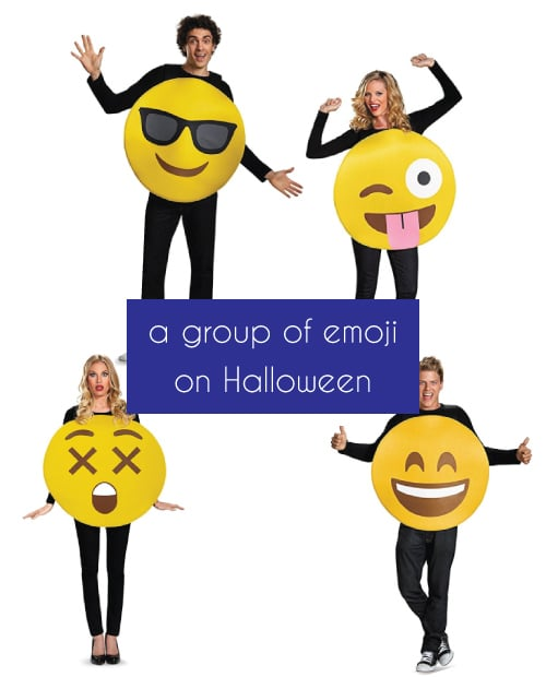 Emoji List Group Costumes. Halloween Group Costumes for friends