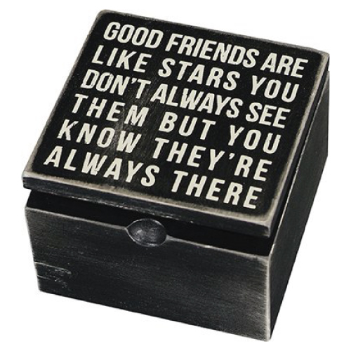 Friendship Quote Keepsake Box By Primitives By Kathy