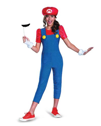 Nintendo Super Mario Brothers Mario Tween Costume