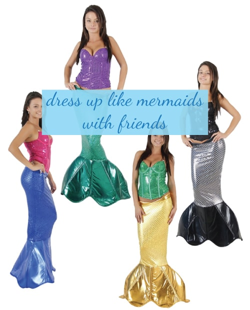 Magical Mermaid Costume. Halloween group costumes for teens.