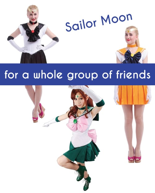 Sailor Moon Costumes. Halloween group costume ideas. Halloween costumes for teens.