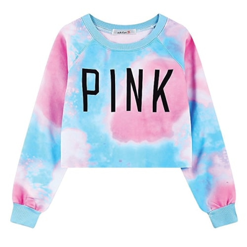 Tie Dye Pink Sweater. Fall outfits teens.