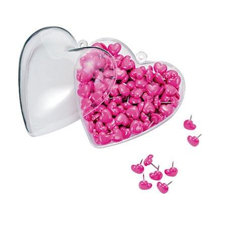 Heart-Shaped Push Pins. School supplies. Teens Stocking Stuffers.