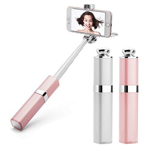 Lipstick Selfie Stick. Tech gadget for her. (Stocking stuffer ideas for teens)