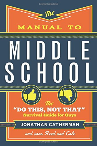The Manual to Middle School. Self help book for tweens. Tween boy gifts. Christmas gifts for tween boys.