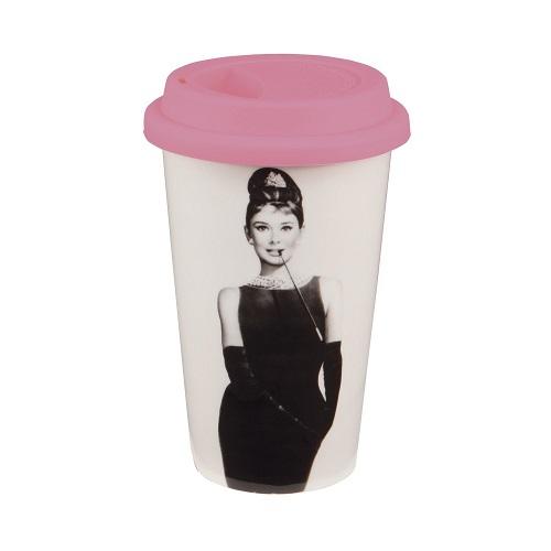 Audrey Hepburn Breakfast at Tiffany's Travel Mug (Stocking stuffer ideas for teens)