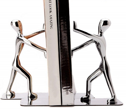 Fasmov Stainless Steel Man bookends