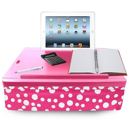 iCozy Cushioned Lap Desk. Dorm room ideas for girls. Christmas gifts for college kids.