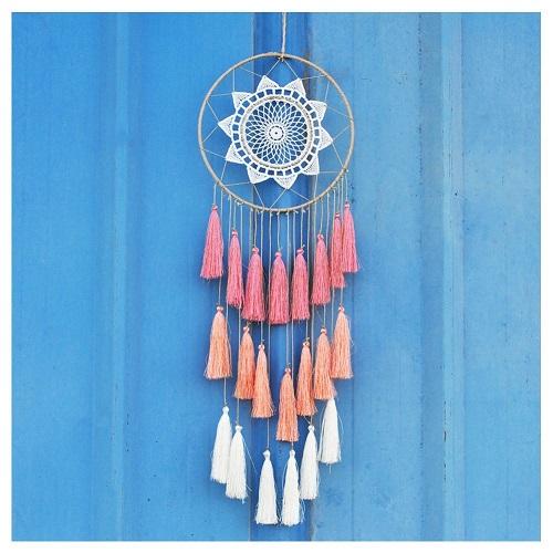 Handmade Dream Catcher. Boho bedroom decor. Christmas gift ideas for girls. Stocking stuffers for teens