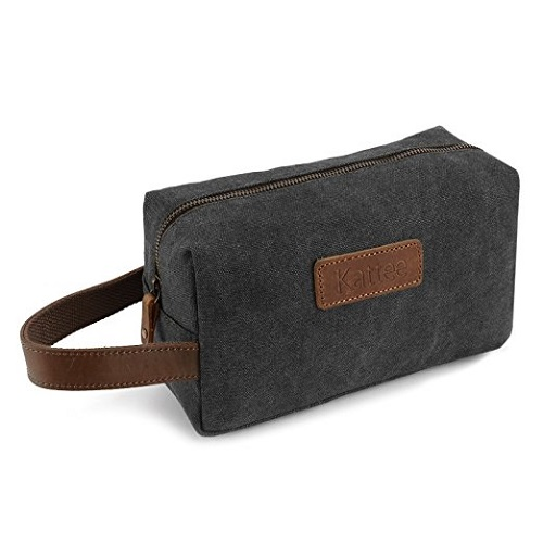 Kattee Men's Travel Toiletry Bag. Stocking stuffer ideas for men.