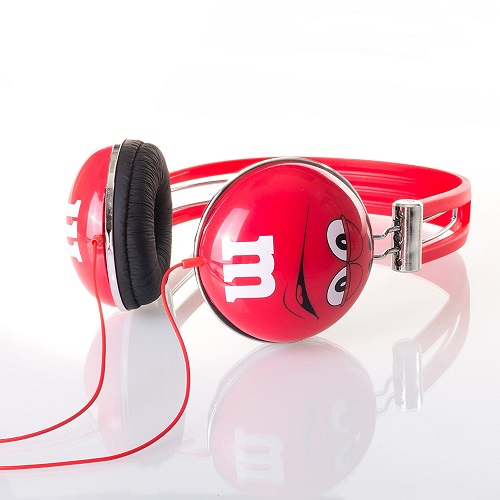Red M&M'S Headphones. Tech gadget gifts for women. (Stocking stuffers for teens)