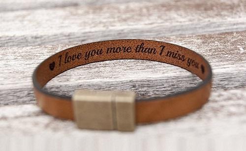 Love Message Leather Bracelet