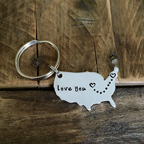 Long Distance Love Keychain (Christmas gifts for long distance boyfriend)
