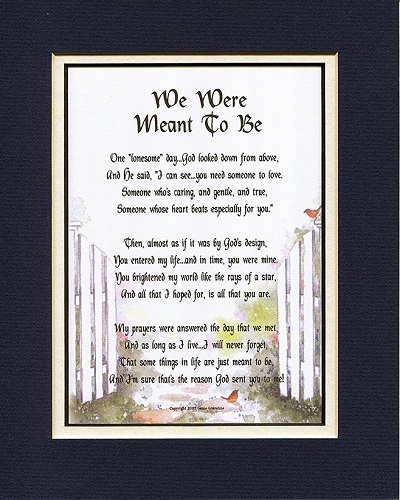 We Were Meant To Be Love Poem. Long distance relationship gift ideas. Christmas gifts for long distance boyfriend