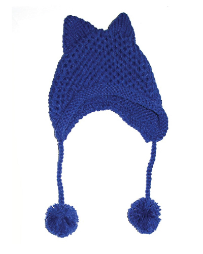 Cat Ear Crochet Braided Hat