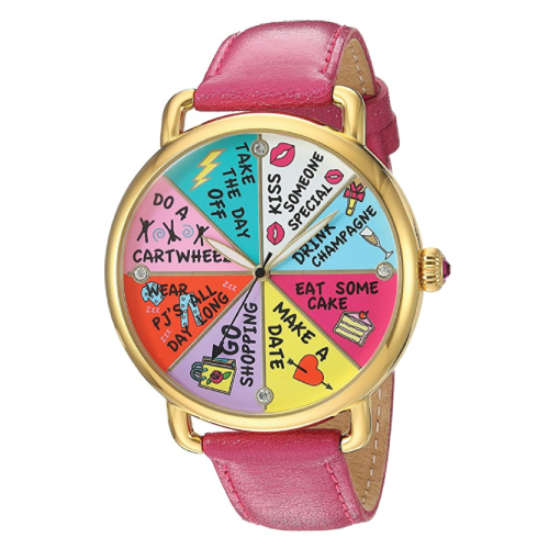 Betsey Johnson Wheel of Fortune Watch. Holiday gift guide for her 2017. Christmas gifts for college students.