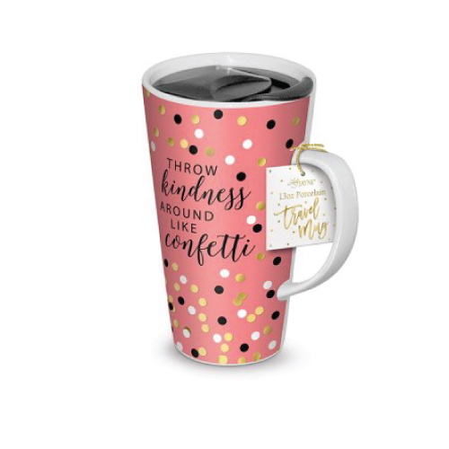 Throw Kindness Around Like Confetti Travel Mug (Christmas gifts for college girls)