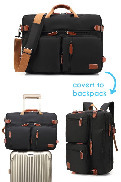 CoolBELL Convertible Backpack Messenger Bag. Holiday gifts for men. Christmas gifts for dad