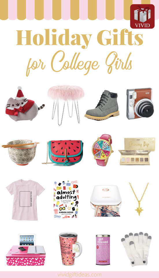 Holiday Gift Guide 2017. Christmas gifts for college girls.