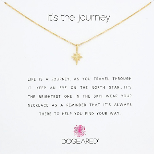 Dogeared Its The Journey North Star Necklace. Holiday gift guide 2017. For her. Christmas gifts for college student girls.