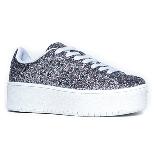 Glitter Platform Sneaker. Teens fashion. Teen gifts. Christmas gifts for teens.