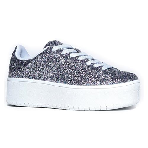 Glitter Platform Sneaker. Teens fashion. Teen gifts. Christmas gifts for teens.