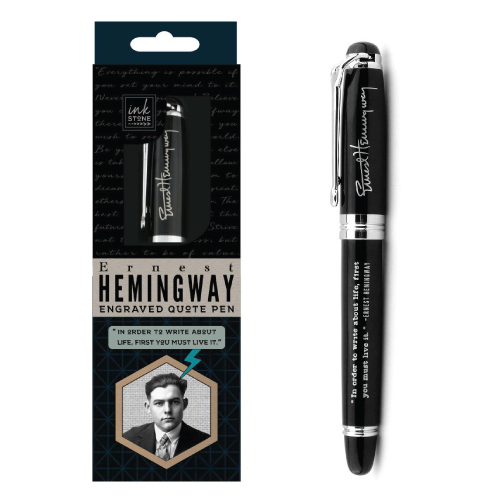 Ernest Hemingway Quote Pen. Holiday trends 2017. Gift guide for men.