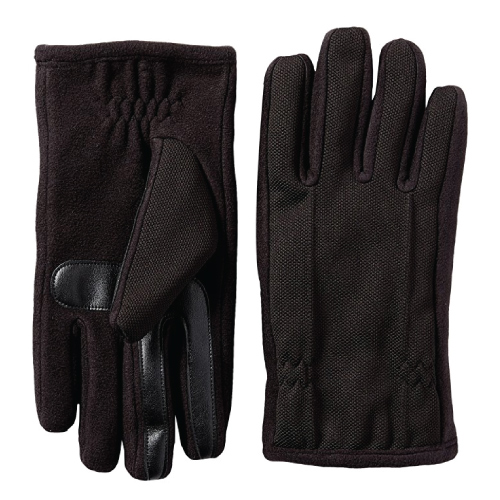Isotoner Mens Tech Gloves. Teen guy fashion. Tech gifts. Christmas gifts for teen boys.