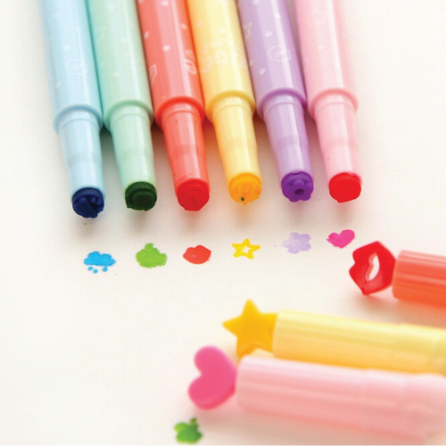 Candy Color Seal Pen Tip Highlighter. School supplies. (Stocking stuffer ideas for teens)