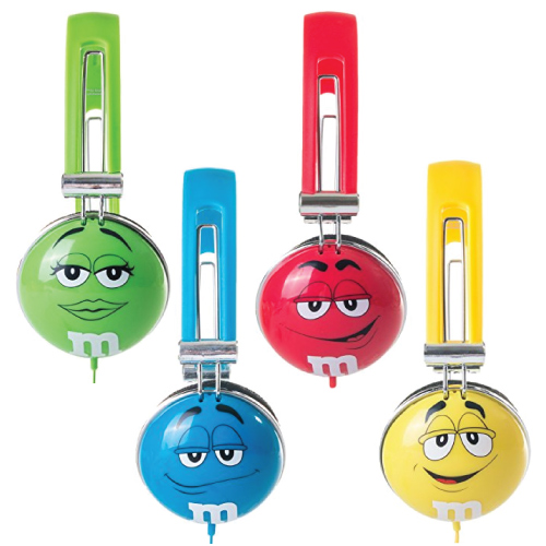 M&M's Headphones. Tech gadgets and accessories. Christmas gift ideas. Stocking stuffer ideas for teens.