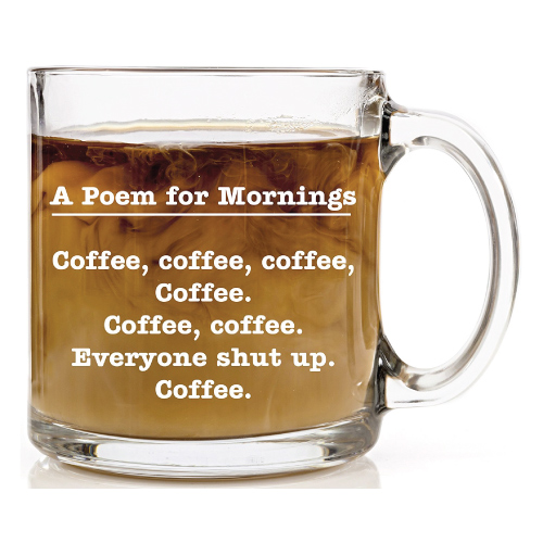 Poem for Mornings Funny Coffee Mug. Christmas gifts for dad #coffee