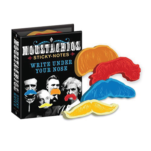 Moustachios Mustache Sticky Notes Booklet